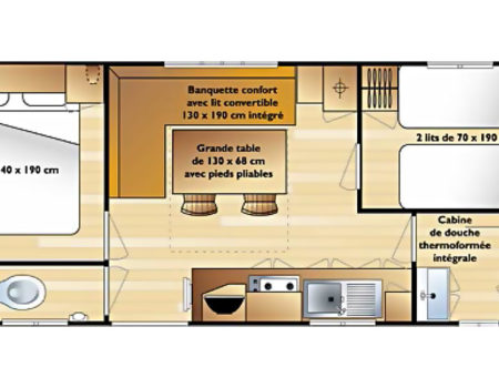 Mobil-home Monette - plan