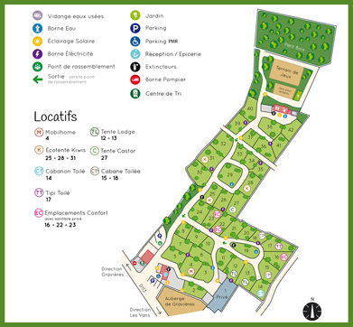 Camp-site map